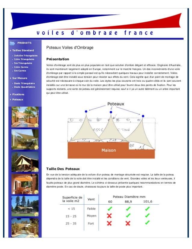 Poteaux Voiles dOmbragePrésentationVoiles dombrage sont de plus en plus populaire en tant que solution dombre élégant et e...