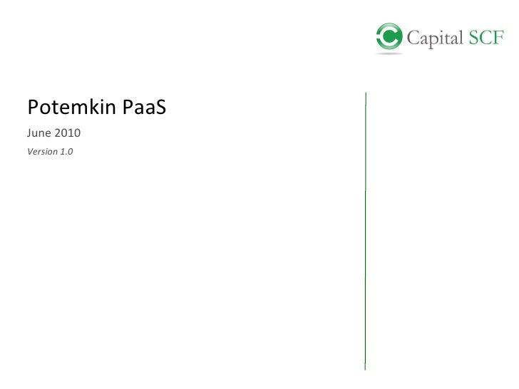 Potemkin PaaS June 2010 Version 1.0