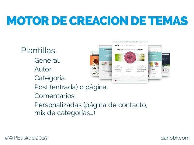 dariobf.com Plantillas. – General. – Autor. – Categoría. – Post (entrada) o página. – Comentarios. – Personalizadas (págin...