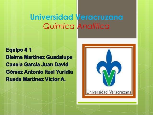 Universidad Veracruzana Química Analítica