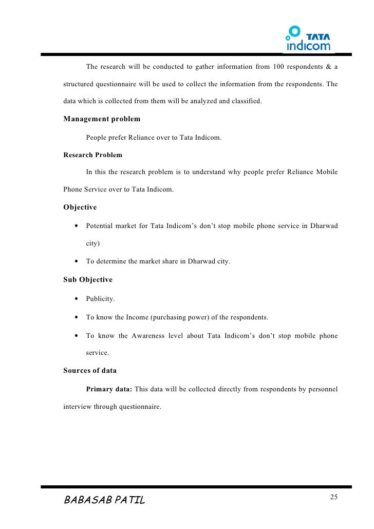 Mba Marketing: Questionnaire For Mba Marketing Project