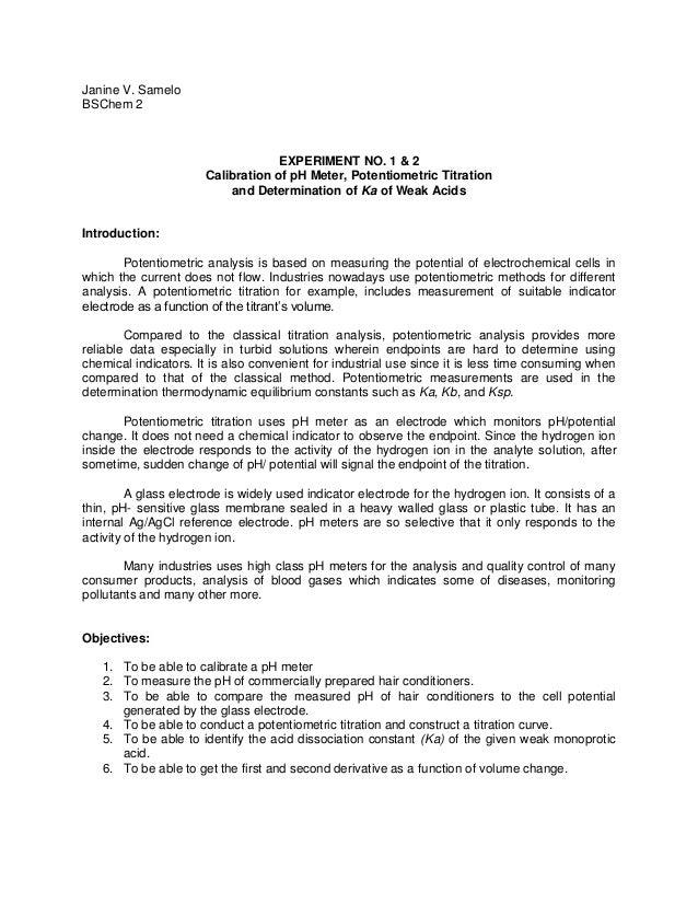 acid base titration lab report sheet
