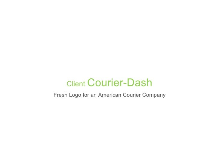 Client Courier-DashFresh Logo for an American Courier Company
