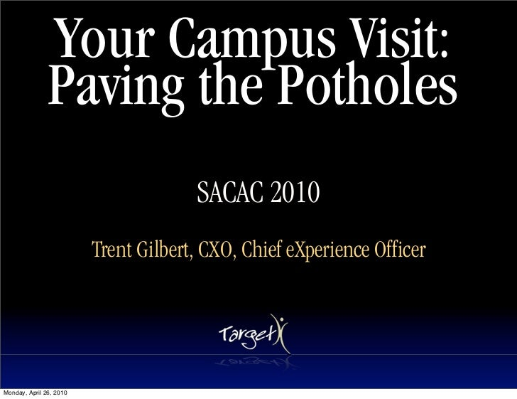 Your Campus Visit:                Paving the Potholes                                       SACAC 2010                    ...