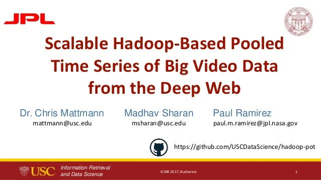 Information Retrieval and Data Science Paul Ramirez paul.m.ramirez@jpl.nasa.gov Madhav Sharan msharan@usc.edu ICMR 2017, B...