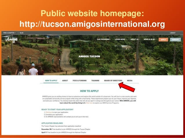 Public website homepage: http://tucson.amigosinternational.org