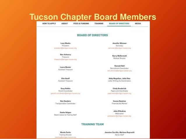 Tucson Chapter Board Members