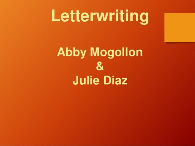 Letterwriting Abby Mogollon & Julie Diaz