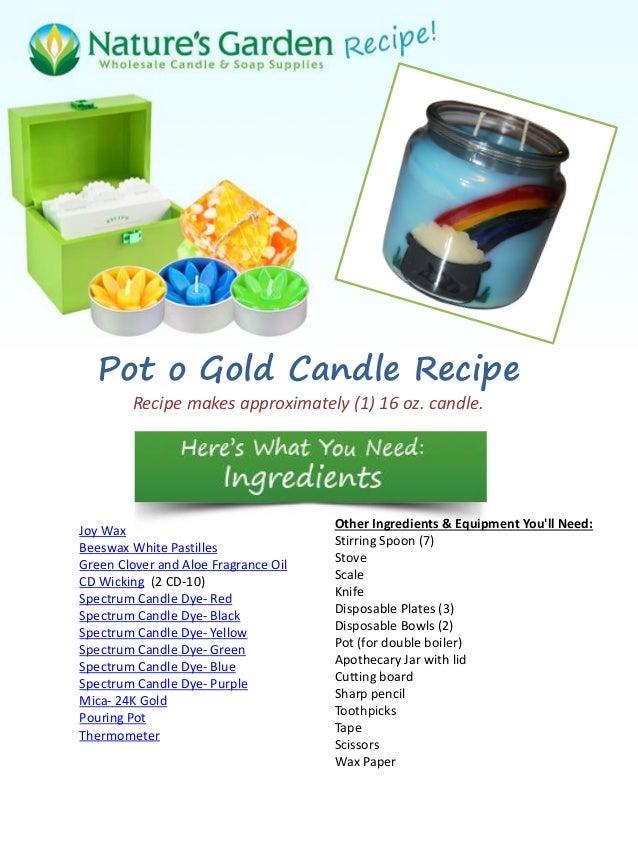 Pot O Gold Candle