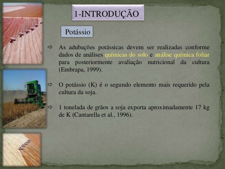 Adubação Potassica Soja Slide 2
