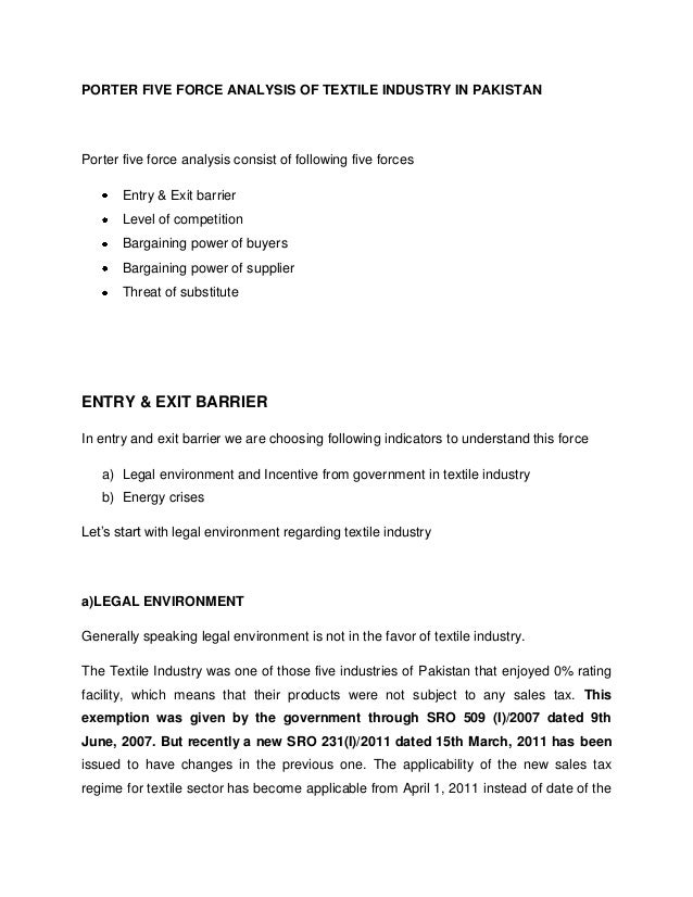 Chemical Industry Analysis Using Porter's Five Force Model Essay