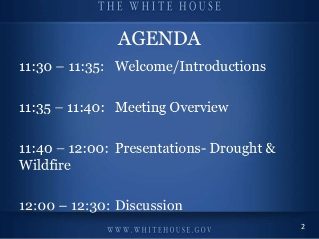 Champions of Change: Veterans Advancing Clean Energy and Climate Security September 24th, 2013 #WHChamps AGENDA 11:30 – 11...
