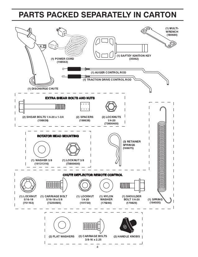 poulan pro pp1053es snow thrower owner s manual