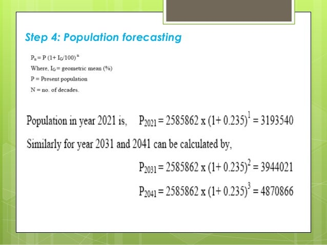 Poulation forecasting