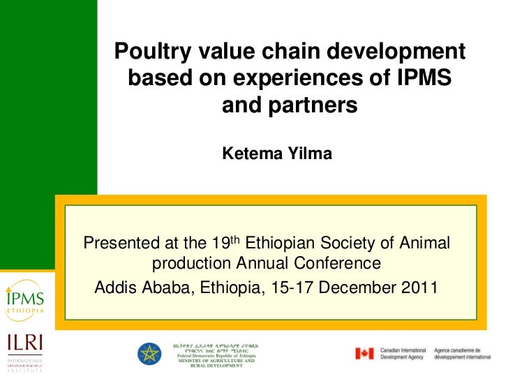Poultry value chain development     based on experiences of IPMS              and partners                  Ketema YilmaPr...