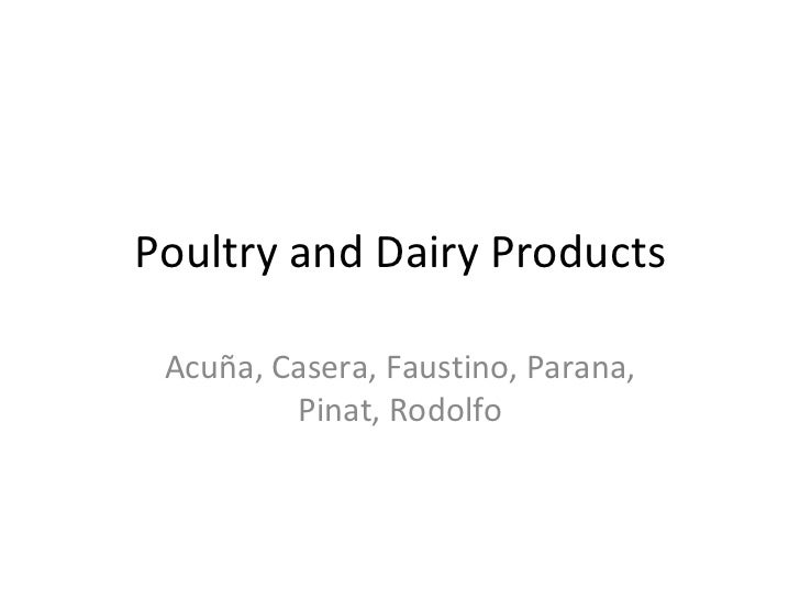 Poultry and Dairy Products Acuña, Casera, Faustino, Parana, Pinat, Rodolfo