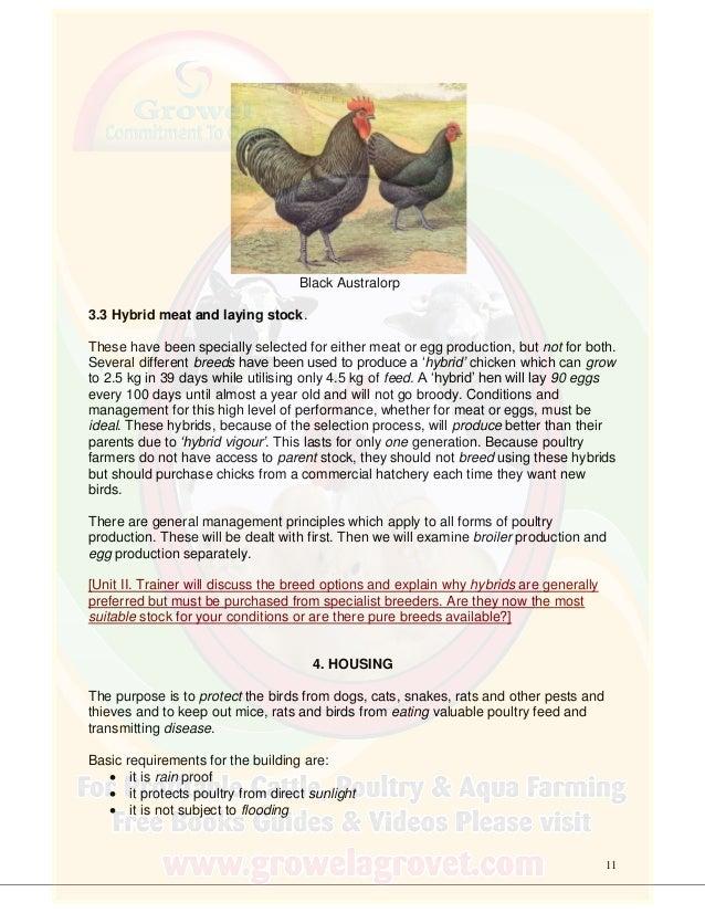 Poultry Farming Training Course