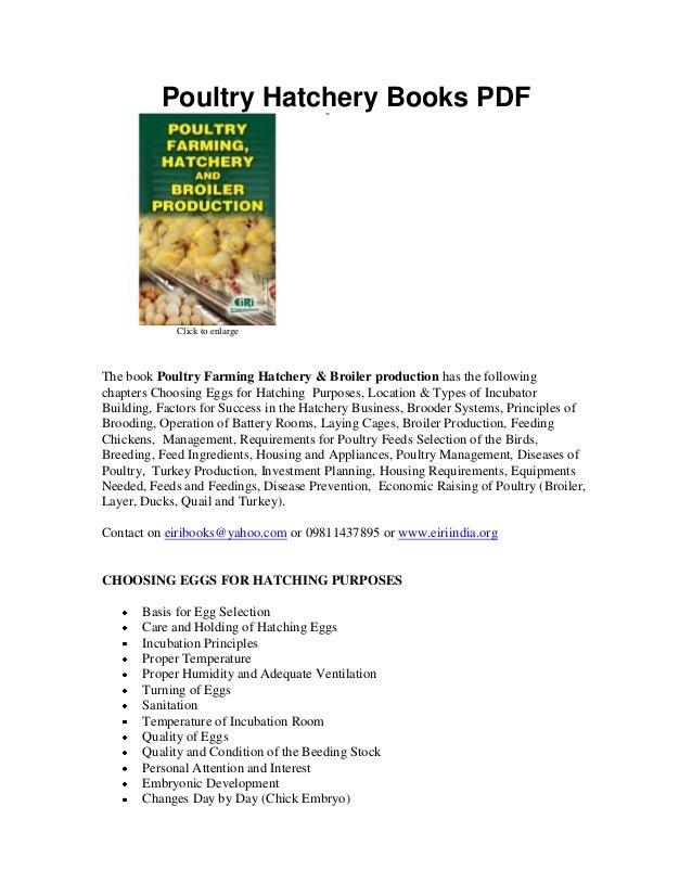 poultry farming project plan