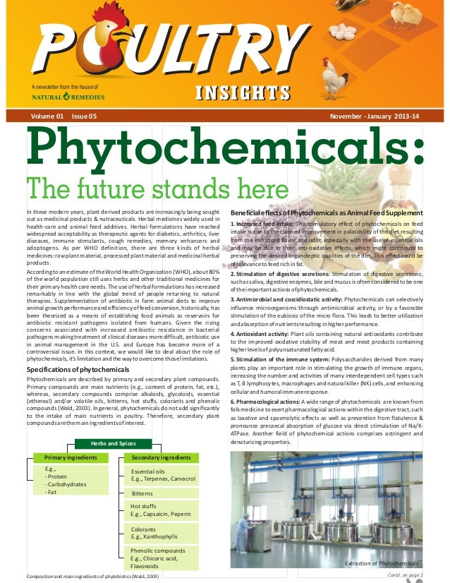A newsletter from the house of  Volume 01  INSIGHTS  Issue 05  November - January 2013-14  Phytochemicals: The future stan...