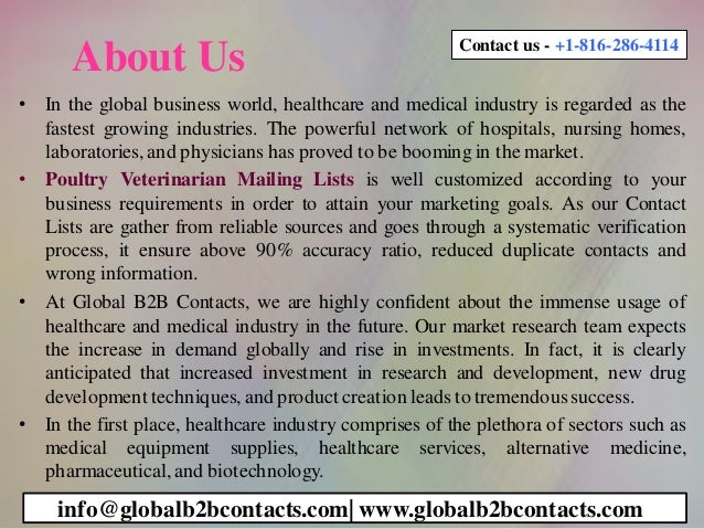 About Us • In the global business world, healthcare and medical industry is regarded as the fastest growing industries. Th...