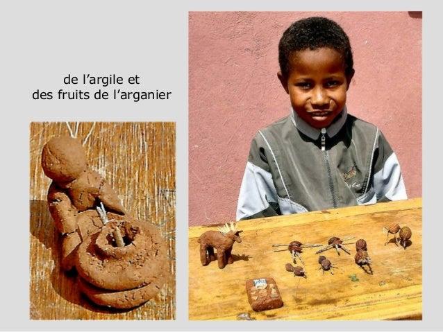de l'argile et des fruits de l'arganier