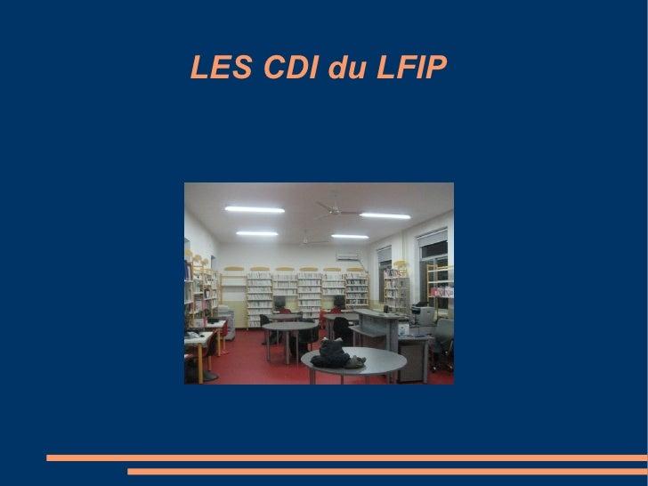 LES CDI du LFIP Titre
