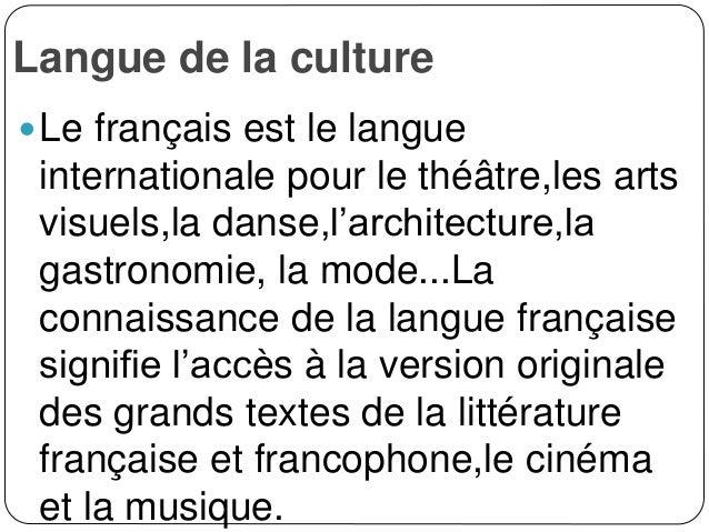 """Tema a tratarse : """"Pourquoi apprendre le français"""""""