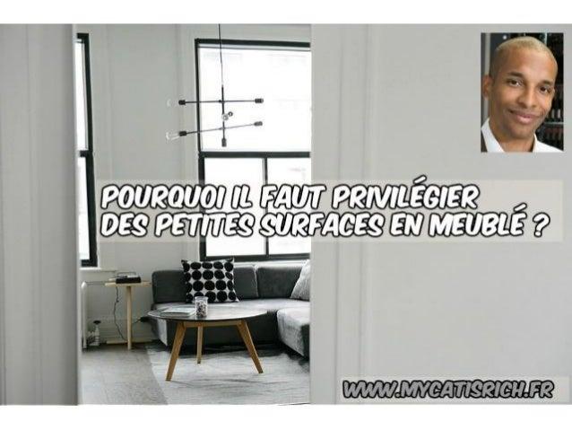 Pourquoi privilégier les petites surfaces en meublé ? www.mycatisrich.fr BIENVENUE !!!