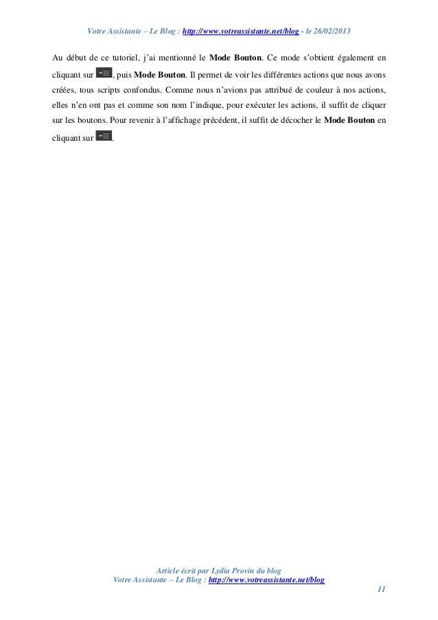 Votre Assistante – Le Blog : http://www.votreassistante.net/blog - le 26/02/2013 Article écrit par Lydia Provin du blog Vo...