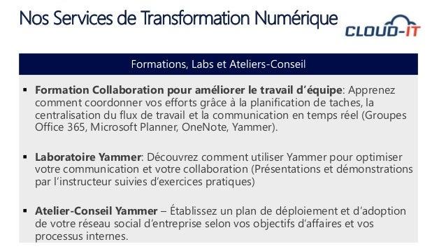 Nos prochains évènements Atelier Vector365 - Jeudi le 20 Octobre à 13:30 Bureau de Microsoft Montréal Collaborer avec les ...