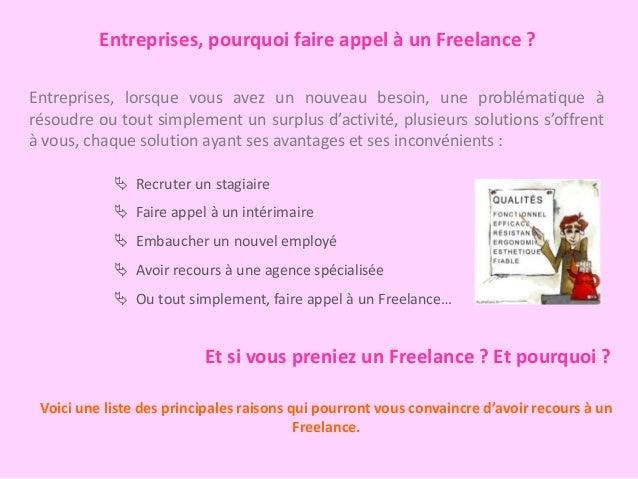 Pourquoi faire appel à un freelance ? Slide 2