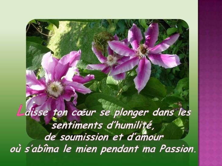 Laisse ton cœur se plonger dans les sentiments d'humilité, <br />de soumission et d'amour<br />où s'abîma le mien pendant ...