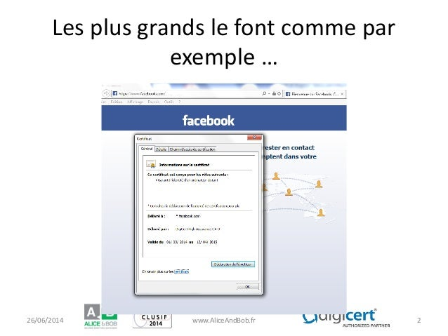 Les plus grands le font comme par exemple … 26/06/2014 www.AliceAndBob.fr 2