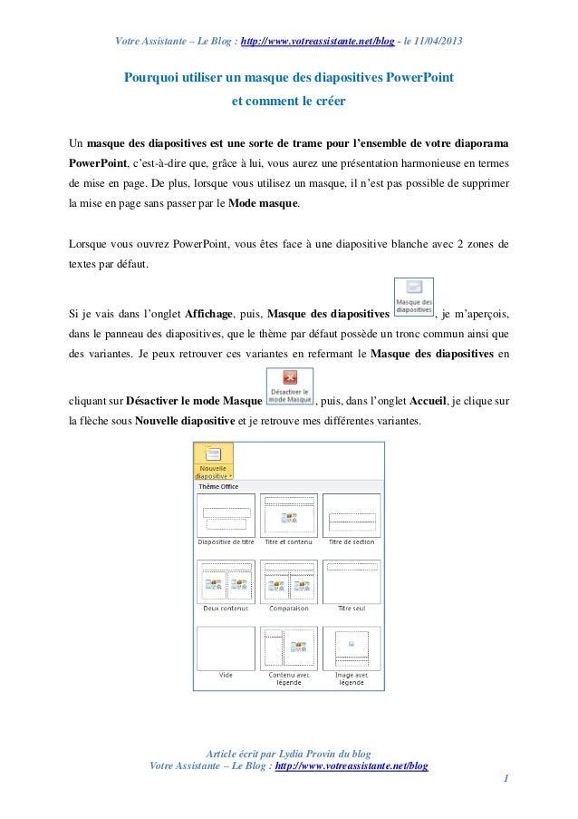Votre Assistante – Le Blog : http://www.votreassistante.net/blog - le 11/04/2013 Article écrit par Lydia Provin du blog Vo...