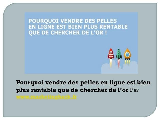 Pourquoi vendre des pelles en ligne est bien plus rentable que de chercher de l'or Par www.marketinghack.fr