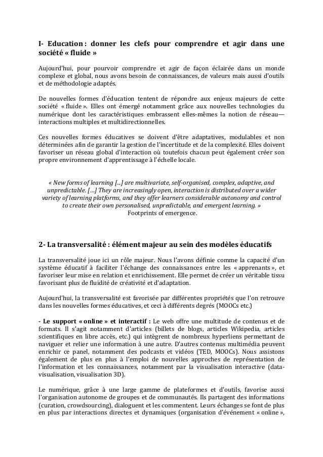 Pour une éducation « fluide »   les MOOCs, impact sur la transversalité et nouveaux défis à relever- célya gruson-daniel-guillaume dumas-sept 2013 Slide 2