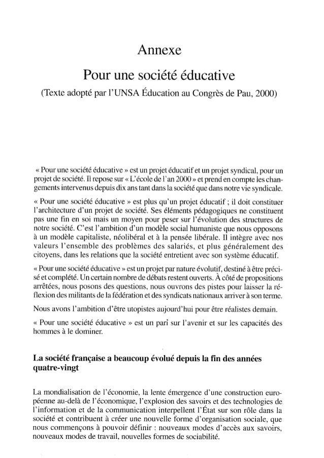 Pour une société éducative