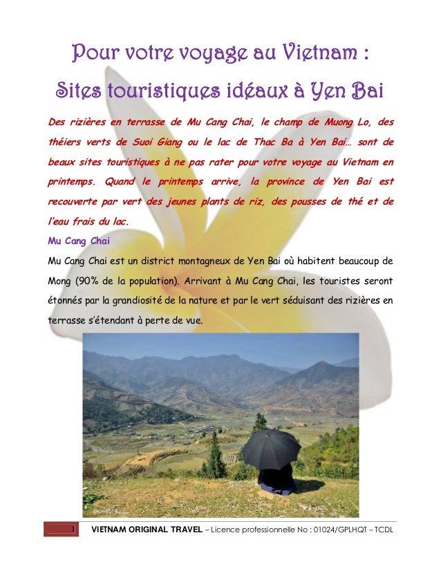 Pour votre voyage au Vietnam : Sites touristiques idéaux à Yen Bai Des rizières en terrasse de Mu Cang Chai, le champ de M...
