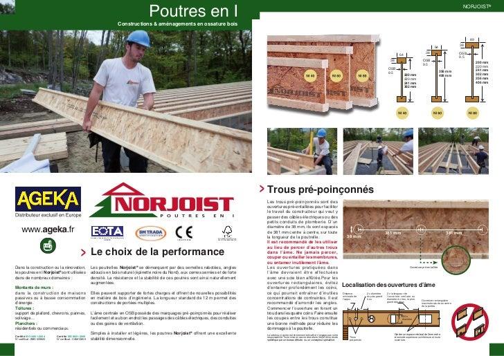 NORJOIST®                                                                                             Constructions & amén...