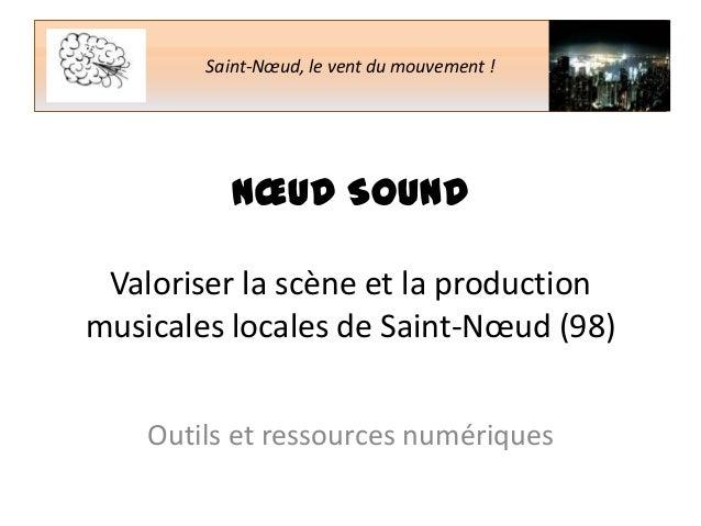 Saint-Nœud, le vent du mouvement !  NŒUD SOUND Valoriser la scène et la production musicales locales de Saint-Nœud (98) Ou...