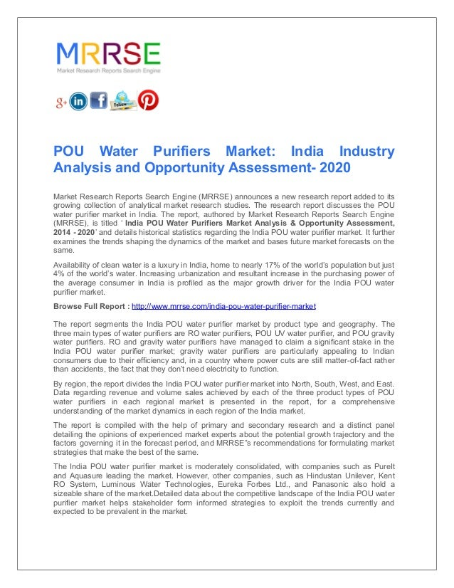 Pou water purifiers market india industry analysis and opportunity a…