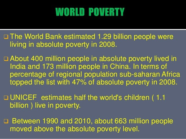 Poverty And Shocking Facts About Poverty