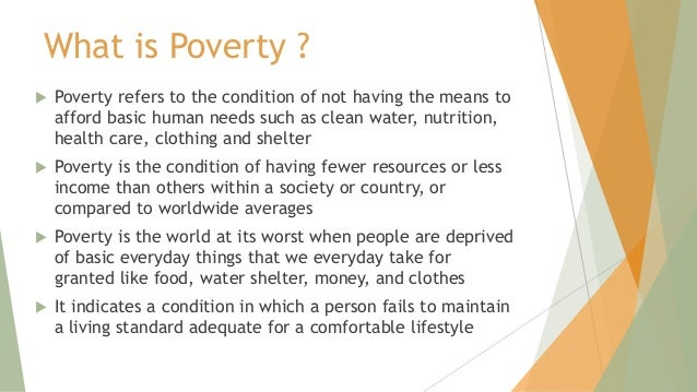causes of poverty ppt