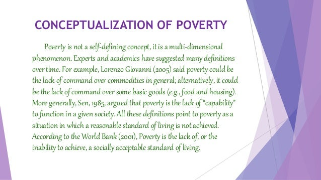 a concept of poverty in the society 1 introduction: concepts of poverty and industrial society in the years since the war and concepts of poverty and deprivation 33.