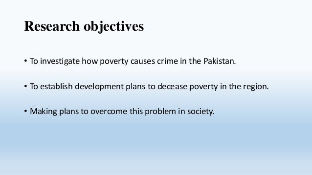 Poverty and crime cause final Slide 2