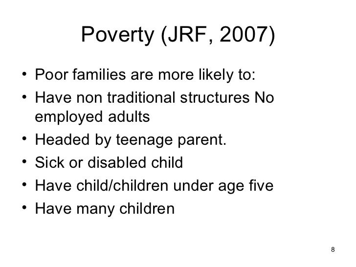 poverty notes Editor's note: the sources of graphs and tables are the reference publications at the end of each article concerned thanks for  what is poverty who asks who .