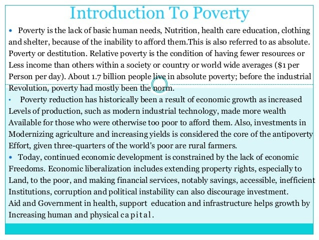 poverty as a challenge class ix Lecture 1 provides an introduction to the study of global poverty the class  watches two videos featuring opposing views of the effect of aid on poor  countries.