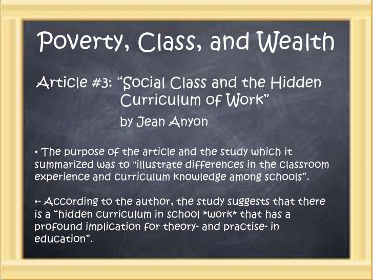 Wealth poverty social class