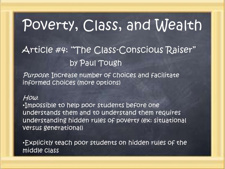 Poverty, class, and wealth power point