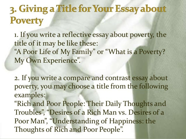 Poverty cause and effect essay